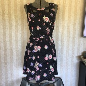 LC Lauren Conrad Flower Print Dress